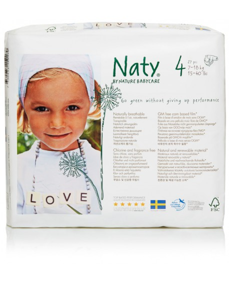 Eco Nappies size 4 Maxi. 7-18 kg, 15-40 lbs,
