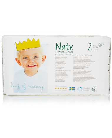 Eco Nappies Size 2  ( 3-6 KG) - 4 x Nappies Pack of 34 (136 Nappies)
