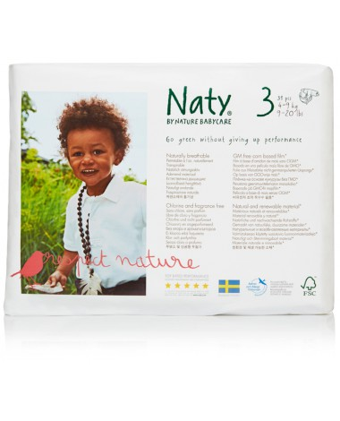 Eco Nappies Size 3  ( 4-9 KG) - 4 x Nappies Pack of 31 (124 Nappies)