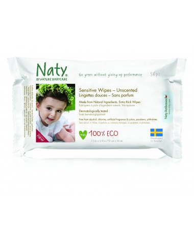 Eco Wipes Unscented 3 Pack x 56 pcs (168 Wipes)