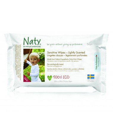 Eco Wipes Lightly Scented, 12 packs x 56 pcs (672 Wipes)