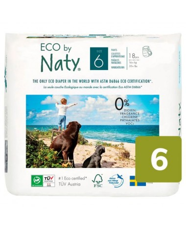 Eco Nappies Size 6 (16+ KG) - 4 x Nappies Pack of 18 (72 Nappies)